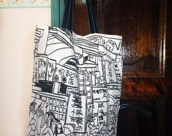 Taichung Taiwan Doodle Full-Print Tote