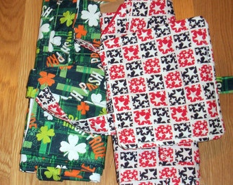 APRONS HOLIDAY 3 PACK - Christmas, St. Patricks Day, 4th of July