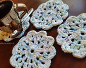 Cotton Coasters, Drink Coasters, 100% Cotton, Housewarming Gift, Coworker Gift, Eco Friendly