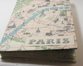 Paris Themed Wedding Guest Book with Library Cards - Made to Order - You pick the Card Count