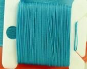 Turquoise Turq Silk Like Beaders Secret Knotting Thread Beading Stringing Sewing 20 yards Polyester