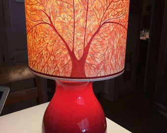 Tree of Life aka Fan Coral Shade in Red (Ask about Lamp)