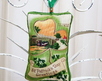 River Lagan in Belfast Irish Ornament / Green, Orange St. Patrick's Day Ornament / Irish Decor / Unique Gift Under 20