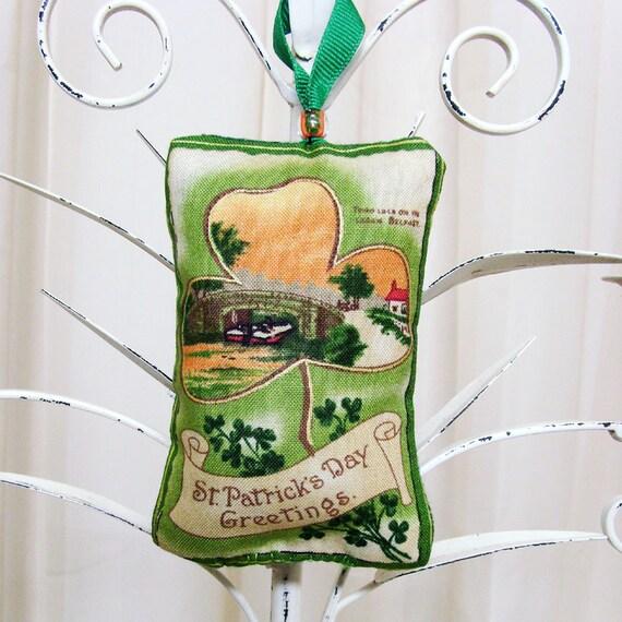 River Lagan in Belfast Irish Ornament / Green, Orange St. Patrick's Day Ornament / Irish Decor / Unique Gift Under 20