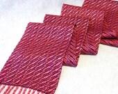 Handwoven Cotton Rayon Tencel Scarf - Woven Scarf - Raspberry Cream Scarf - Fuchsia Scarf