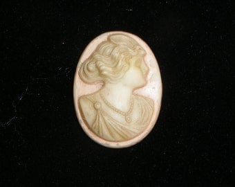 Vintage Antique High Relief Carved Shell Loose Cameo Goddess Flora