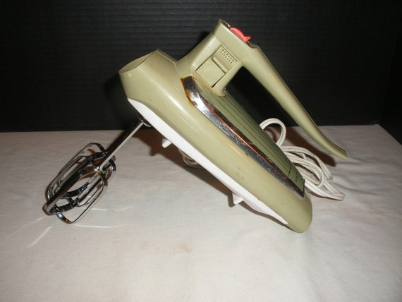 Electric Mixers Made In Usa ~ Vintage green ge general electric hand mixer