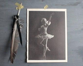 Vintage Ballerina Print - Book Plate - Nora Kaye in Princess Aurora - Ballet Photograph