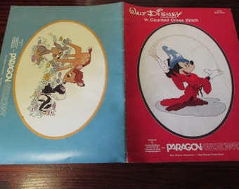 Disney Mickey Mouse Counted Cross Stitch Walt Disney Characters Paragon 5070 Counted Cross Stitch Leaflet