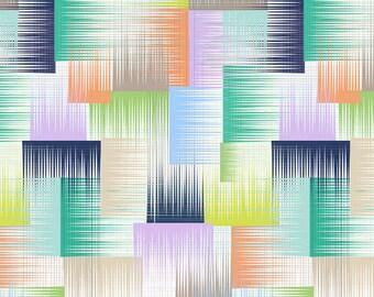 Clearance Sale 1 yard  -  Geofabulous Blend Fabrics 101.114.02.2 Symmetry Blue - no.908