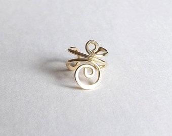 Gold Ear Cuff Swirl Earcuff Small No Pierce Earring eco friendly Gold Filled minimalist jewelry for women