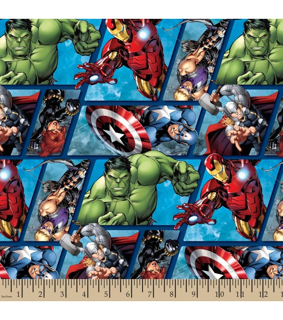 Marvel Avengers Fabric By The Yard