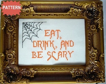 PDF/JPEG Eat, Drink And Be Scary (Pattern)