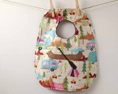 Camping and Canoeing Baby Bib - Unisex Baby Gift - Gender Neutral Bib - Paddling Babyshower - Oversize Toddler Bib