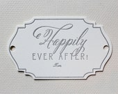 Custom Listing Happily Ever After Letterpress Gift Tag