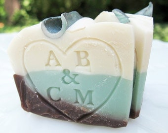 Personalized Wedding Favors - 100 custom hand stamped 'cutie pies'