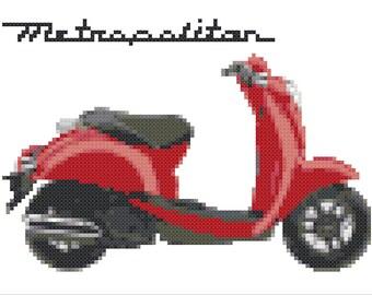 Honda Metropolitan Scooter - Cross Stitch Digital Pattern