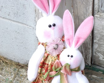 SPRING RABBIT DOLL- easter bunny- spring-  animal
