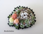 Bird Nest Pin / Birdnest Pin