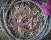 Rustic Authentic Rodeo Cowboy Horseshoes Wedding Decoration Good Luck Set of Two