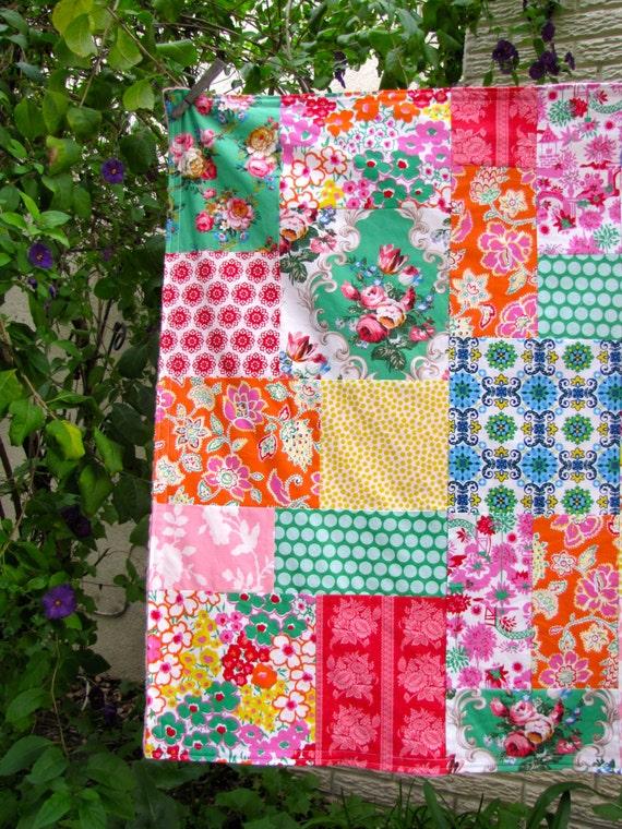 32x32 Jenny Eliza Random Patchwork Blanket Ready to Ship