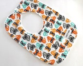 Toddler Bib - Baby Boy - Toddler - Baby Shower Gift - Raccoons - Woodland -Gender Neutral