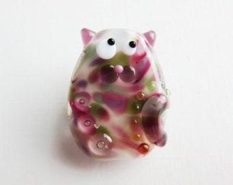 Marianne Classy Kitty Cat Lampwork Glass Bead Focal by keiara SRA