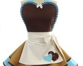 Retro Apron - Cinderella Work Womens Aprons - Vintage Apron Style - Pin up Cosplay Costume Apron