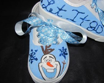Frozen custom hand painted Olaf shoes