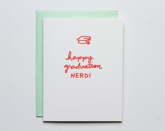 Graduation Nerd - Letterpress Congratulations Card - CC203