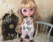 For Filia Moon Blythe 30cm TEXT Dress Bloomers Set