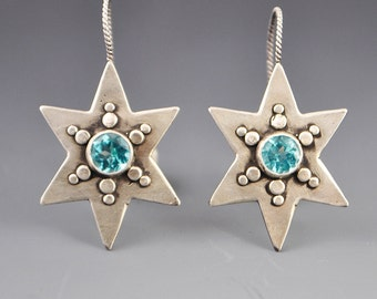 Star and Stone Modern Earrings