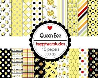 DigitalScrapbooking Instant Download-QueenBee