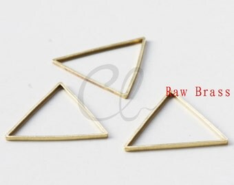 30pcs Raw Brass Triangle Ring - Link 21mm (1972C-P-316)