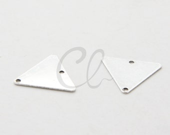 10pcs Oxidized Silver Plated Brass Base Triangle - 16.5mm (1716C-F-468)(ML)