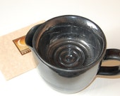 Shaving Scuttle in Black Lapis for Traditional Wet Shave