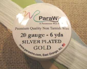 Silver Plated Gold - 20 Gauge Wire from ParaWire - 6 Yard Spool