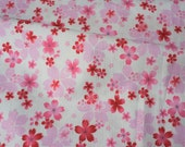 Kimono print Japanese fabric Half meter 50 cm by 106 cm or 19.6 by 42 inches A20