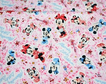 Half meter Disney Cartoon  Minnie Mouse Print Japanese fabric