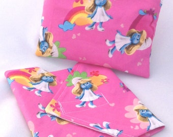 Smurfette Reusable Lunch Duo - Sandwich Wrap and Snack Bag