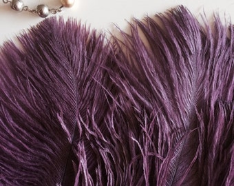 DELICATA OSTRICH PLUMES  , Fig Purple / 2024 / Best Seller