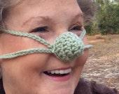 Nose Warmer, Soft Green, Outdoor Sports, Crochet, Teen, Tween, Woman, Man, Unisex., Cold Noze Cover, Vegan Friendly, Teacher Gift, Sleep