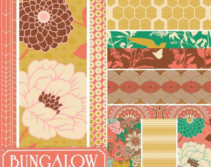 SALE Joel Dewberry Bungalow fabric: fat quarter set of 12, Honey suckle palette