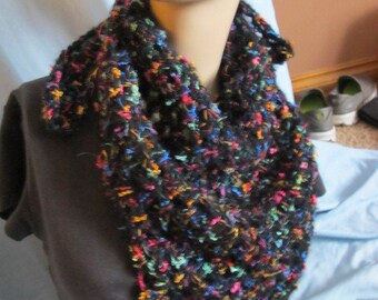 Black Rainbow Triangle Scarf (5025)