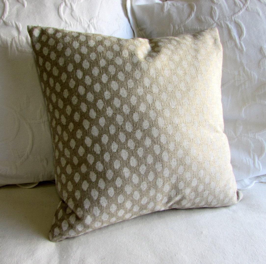 SAHARA CHALK designer fabric pillow cover 18x18 20x20 22x22