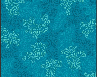 Art Gallery • Nature Elements • Seawater • Cotton Fabric 0.54yd (0,5m) 002070
