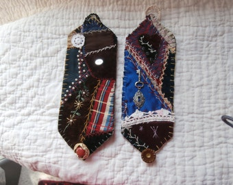 VINTAGE CRAZY Quilt CUFF Bracelet ooak gift  5 to choose from  Discount coupon available