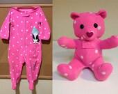 Custom Keepsake Teddy Bear: made from your own fabric