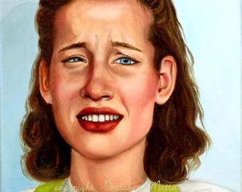 Slick Sally - Original Portrait Oil Painting