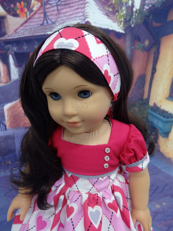 Argyle Hearts - vintage style dress for American Girl doll